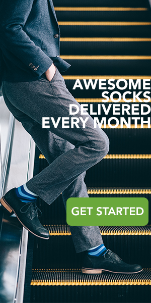 Awesome socks delivered every month. Get Started today.